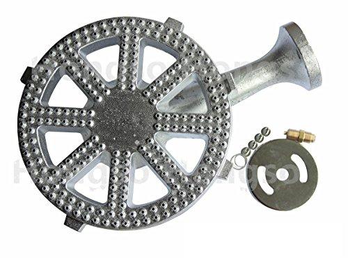 Hongso CBBG14 Silvery Cast-Iron Replacement Banjo Burner for 30 PSI Regulator (High Pressure, 10
