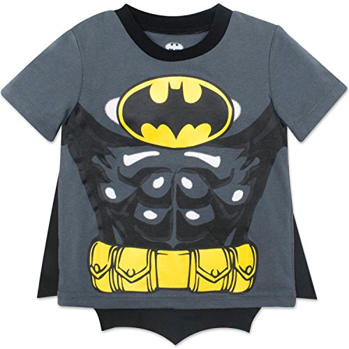 Warner Bros. Batman Toddler Boys' Costume T-Shirt & Cape Set (Gray, 7)