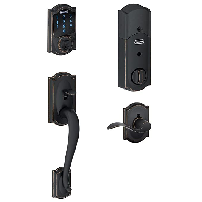 Amazon.com: Cerradura Schlage Connect Camelot con panel ...