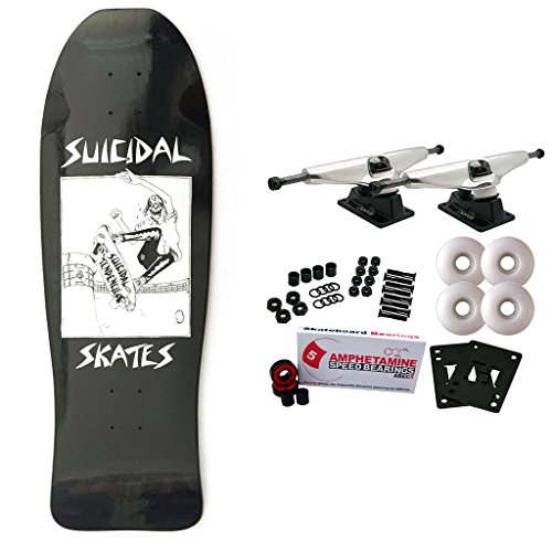 Suicidal Skateboard Complete Tendencies Pool Skater Black 10″ x 30.25