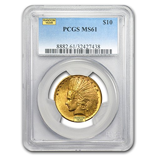 1907 – 1933 $10 Indian Gold Eagle MS-61 PCGS G$10 MS-61 PCGS