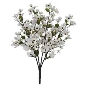House of Silk Flowers Artificial 24-inch Cream Dogwood Bush (Set of 6) 55