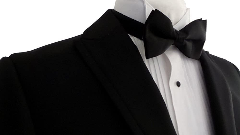 7d859714d15156 Mantoni 2 Button Modern FIT Solid Black Spencer (Modern Lapel) Men's Tuxedo  Suit with No Vest 100% Virgin Wool at Amazon Men's Clothing store: