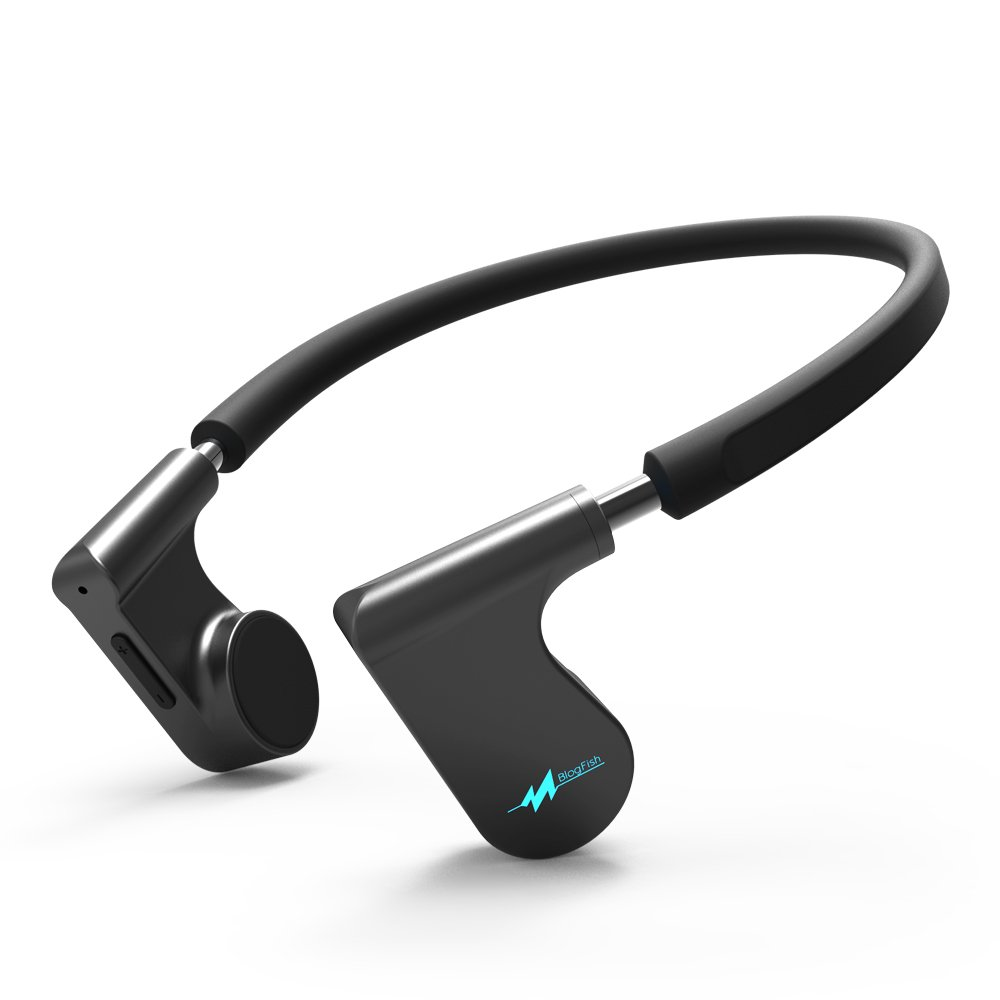 G-Fire Fifth Gen Bone Conduction Bluetooth Headset - IPX5 Waterproof Earphones W/Built-In HD Microphone - Ideal For Sports & Outdoor Activities (Black)