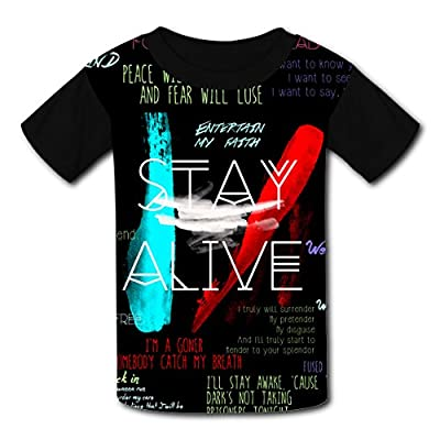 UJmhyHY Twenty One Rock Music Pilot-er Kids Graphic Short Sleeve T-shirts Crew Neck for Boys Girls