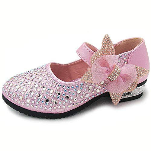 3c5d2d08ed332 YING LAN Little Big Girl Glitter PU Leather Mary Jane Shoes Pink 33