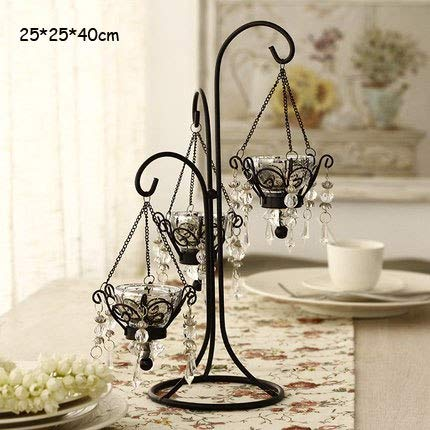 Candle Holders - European Retro Romantic Creative Iron Candle Holder Decoration Home Candlelight Dinner Props Crystal - Advent Outdoor Menorah 20 Vase Ring On Hyoola Halloween Of