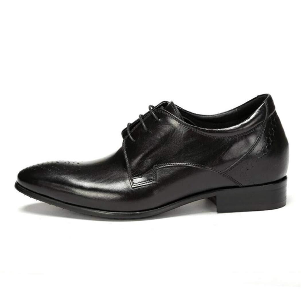 Zxcer Oxford Brogue Schuhe Herren - Herren Plaid Plaid Plaid Schwarz Leder Abendschuhe, Perforierte Lace Up Freizeitschuhe 28e3ae