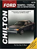 Ford Tempo and Topaz, 1984-94 (Chilton Total Car Care Series Manuals)