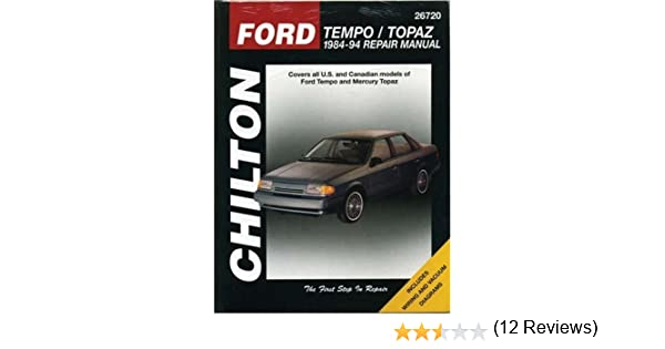 Ford tempo and topaz 1984 94 chilton total car care series ford tempo and topaz 1984 94 chilton total car care series manuals chilton 9780801986703 amazon books fandeluxe Choice Image