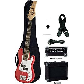 crescent electric bass guitar starter kit pink color includes amp crescenttm. Black Bedroom Furniture Sets. Home Design Ideas