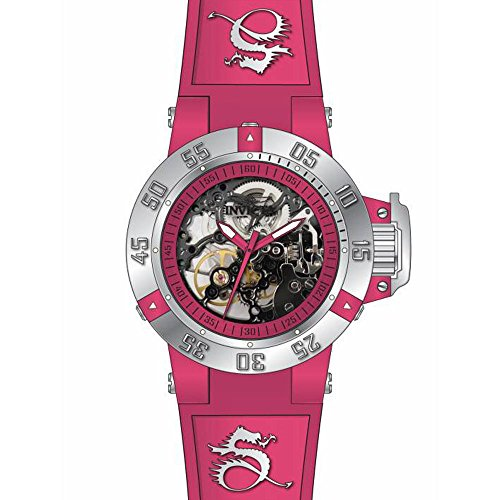 Invicta Subaqua Pink Skeleton Pink Silicone Ladies Watch 17128