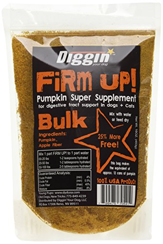 Diggin' Your Dog 1 Piece Firm Up Pumpkin Bulk Super Supplement, 16 oz