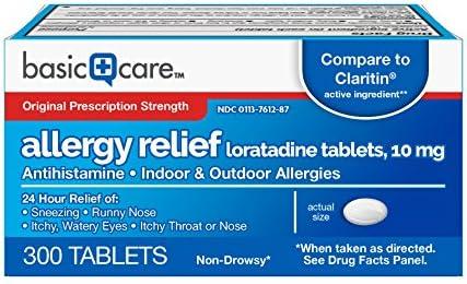 Basic Care Allergy Loratadine Tablets