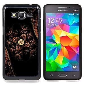 """Qstar Arte & diseño plástico duro Fundas Cover Cubre Hard Case Cover para Samsung Galaxy Grand Prime G530H / DS (Patrón de arte oriental tradicional flor nativa"""")"""