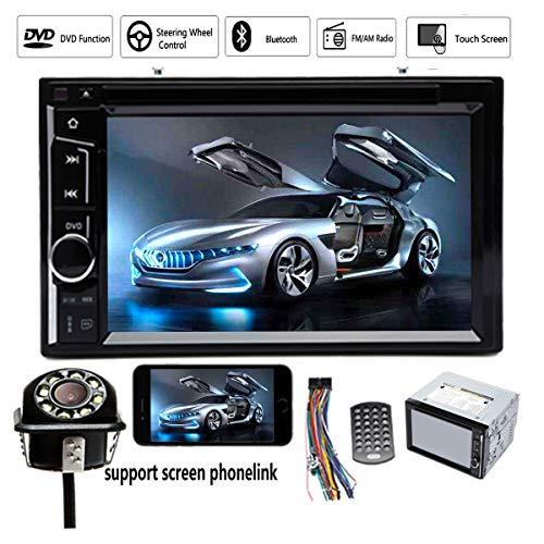 2 DIN Car Stereo DVD CD Player Radio Bluetooth Touchscreen 6.2