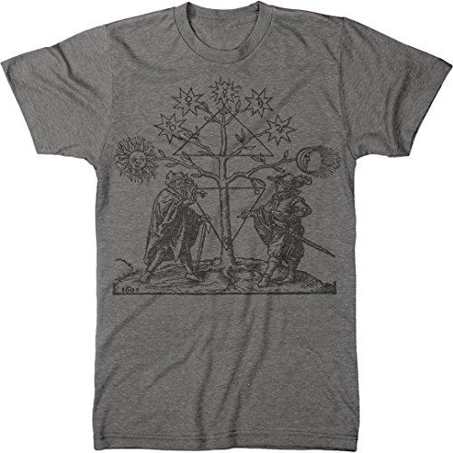 Vintage Alchemy All Encompassing Men's Modern Fit Tri-Blend T-Shirt (Premium Heather, - T-shirt Tri Blend Symbol