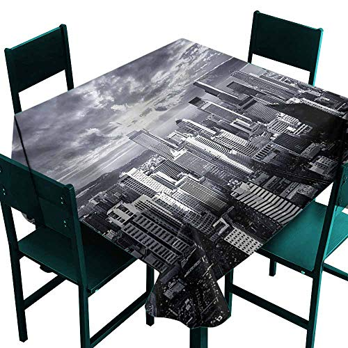(DONEECKL Polyester Tablecloth Wanderlust Seattle City Buildings Party W63)
