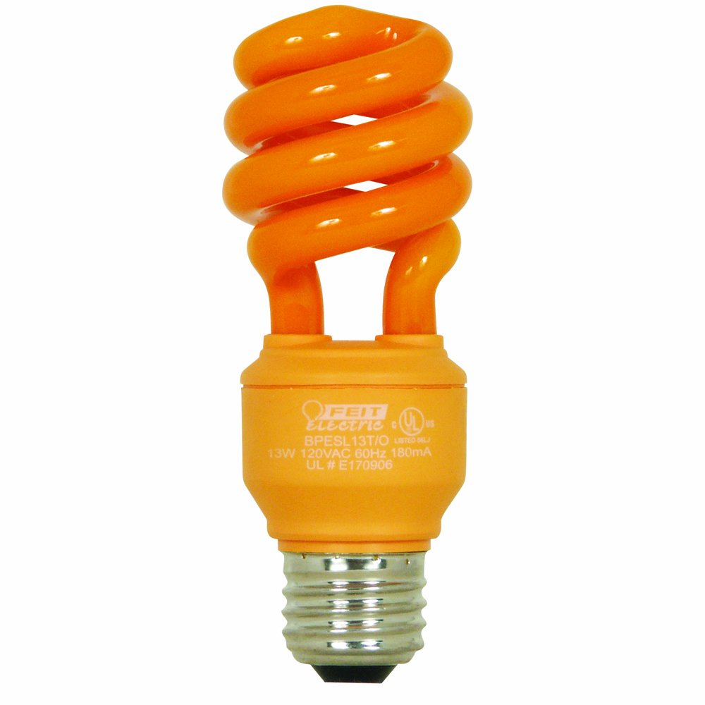amazoncom feit electric bpesl13to 13 watt compact fluorescent mini twist orange bulb home improvement