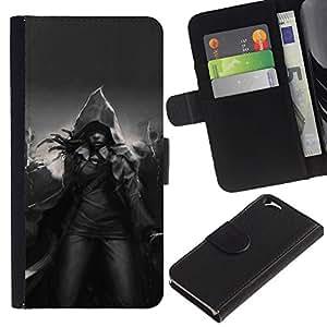For Apple Apple iPhone 6(4.7 inches),S-type® Magic Hood Black White Mystical - Dibujo PU billetera de cuero Funda Case Caso de la piel de la bolsa protectora