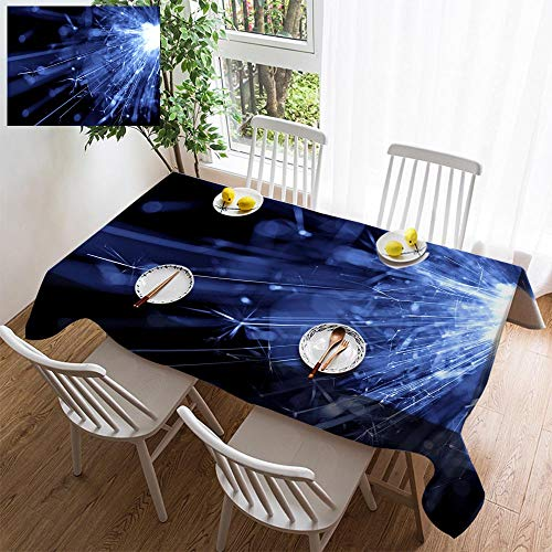 Light 6 Sturbridge (HOOMORE Simple Color Cotton Linen Tablecloth,Washable, Abstract Blue Light Background Decorating Restaurant - Kitchen School Coffee Shop Rectangular 120×60in)