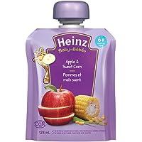 HEINZ Strained Apple & Sweet Corn Pouch, 6 Pack, 128ML Each