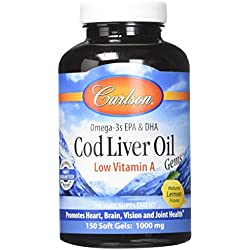 Carlson Labs Low A Cod Liver Oil Soft-Gels, 150 Count