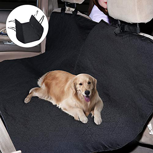 Gasky Rear Seat Cover for Dogs Cargo Cover with Adjustable Straps and Handy Durable Pockets Pet Car Cover Waterproof for Cat Dog Compatible with Car Truck and SUV (49.21