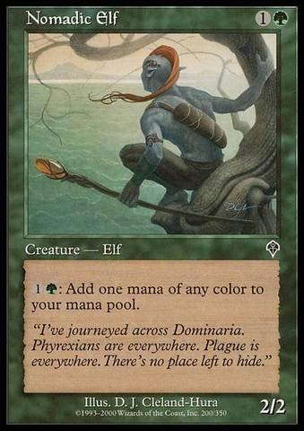 Magic: the Gathering - Nomadic Elf - - Elf Nomadic