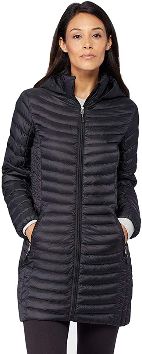32 DEGREES Womens Ultra Light Down Long Packable Jacket
