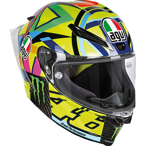AGV Adult Pista GP R Carbon Rossi Soleluna 2016 Street Motorcycle Helmet - Multi / Medium/Large