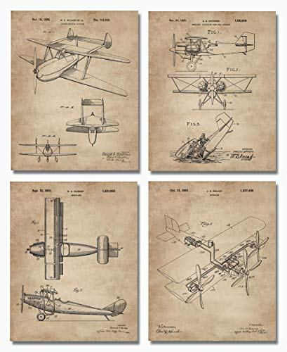 Biplanes Patent Wall Art -Set of Four 8