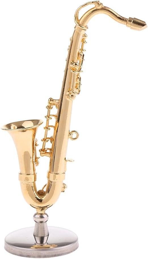 1//6 Kupfer Saxophon Modell Miniatur Musikinstrument für Action-Figur # 2