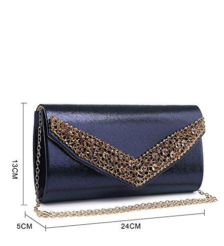 femme Marine Bleu Elegant Fashions Pochettes FRnWqvUxwg