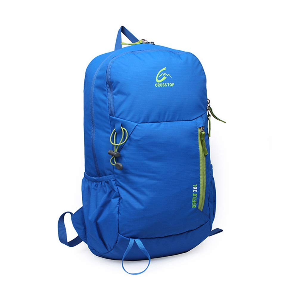 YOZOOE Leisure Waterproof Backpack Business Student Bag Backpack-Nylon Mountaineering Bag Suitable for Outdoor Hiking Sports (Capacity : 26L, Color : Blue) by YOZOOE