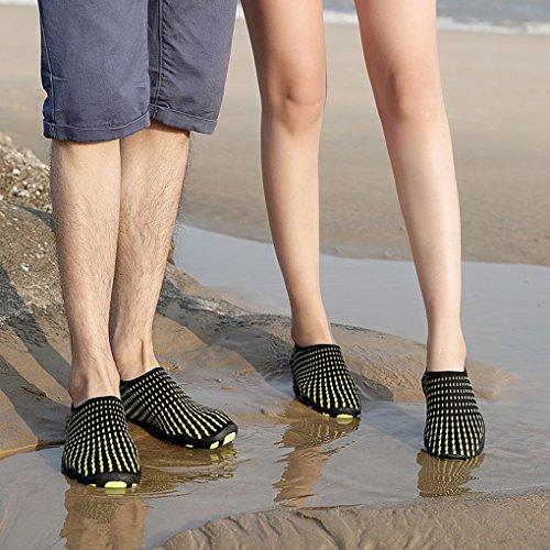 Verano para Unisex Goma Zapatillas Agua Intervensión al Transpirable de Krastal Aire Playa de Negro última WnYXq4xt