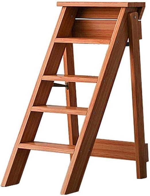 XITER Escalera de Madera de 5 escalones Sillas Plegables Plegables for la Cocina de la Biblioteca o el jardín de su casa: Amazon.es: Hogar