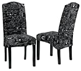 Cortesi Home CH-DC800909 Fletcher Dining Chair in Black Script Fabric (Set of 2) Review