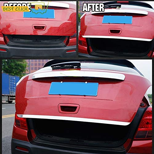 - Exterior Parts For Chevrolet Trax Tracker Holden 2013-2017 Chrome Rear Trunk Tail Gate Cover Trim Door Molding Tailgate Strip Garnish Styling
