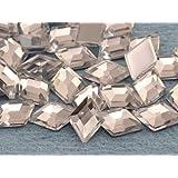 10x7mm Crystal .AC Flat Back Diamond Acrylic Jewels High Quality Pro Grade - 100 Pieces
