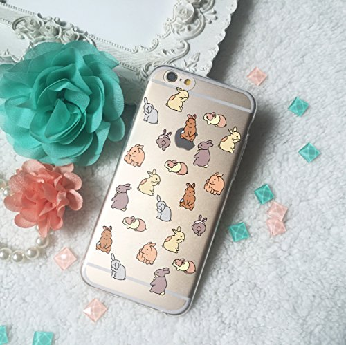- Rabbit Bunny Hare all over printing TPU Phone Case for Apple iPhone X 8 8+ 7 6S SE 5 Samsung Galaxy S8 S7 edge Note 8 original by celia's store (iPhone 6 or 6S (4.7