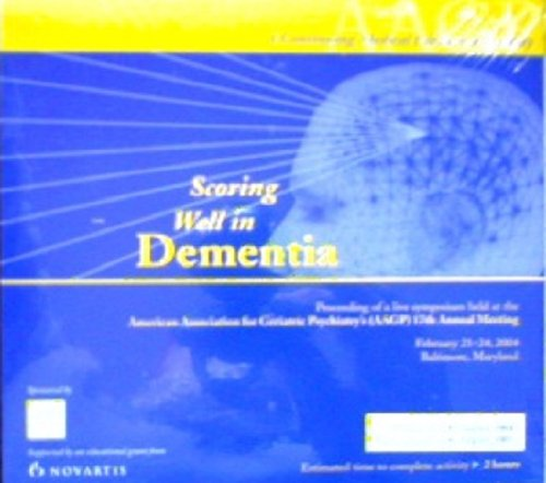 Meeting Cd - Scoring Well in Dementia 17th Annual Meeting Cd