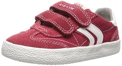Geox Jr Kilwi Boy, Zapatillas para Niños - Multicolor (Red/Off White)