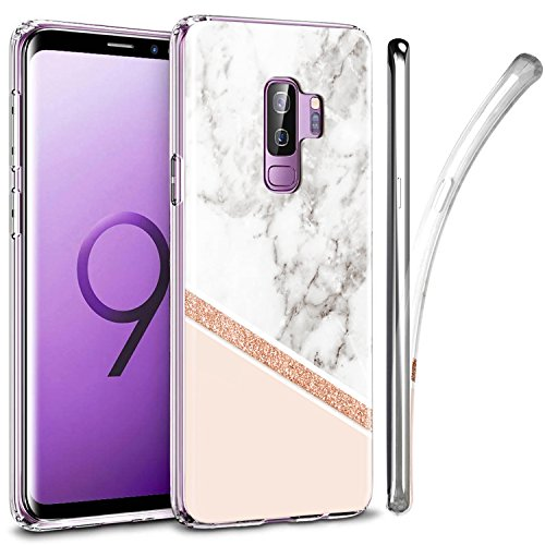 Galaxy S9 Plus Case, ZUSLAB Nebula Pattern Design, Slim Flexible Shockproof TPU, Soft Rubber Silicone Glossy Skin Cover for Samsung Galaxy S9 Plus, 2018 (Marble Delux)