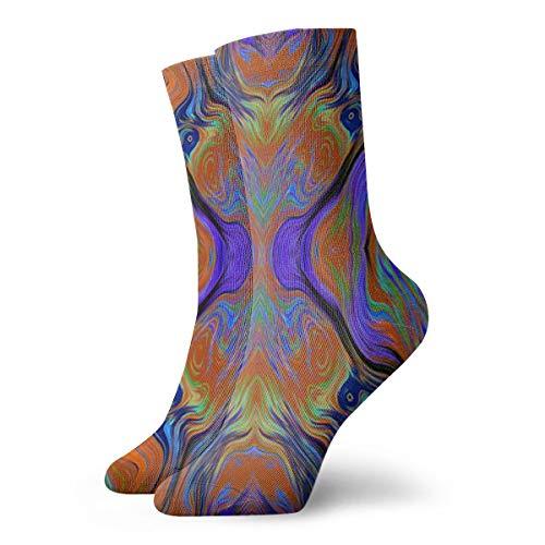 Jokerbilibili Lava LAMP Purple Orange Burnt Unisex Print Athletic Quarter/Ankle Running Hiking Socks-Weekend Lounge Short Crew Socks