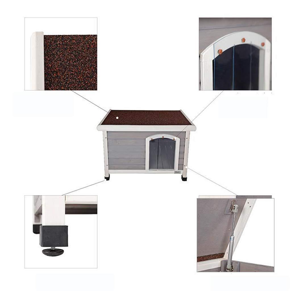AA-GWCWWWL Caseta Interior para Perros con Puerta de Hierro, Refugio de Madera para Perros, Color Gris, 86X58X58CM: Amazon.es: Hogar