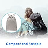 Travel Pillow, Feagar Compact & Portable U-Shape Memory Foam Neck Pillow Set with Ear Plugs, Sleep Mask and Velvet Bag for Flight,Train, Car and Office Naps, Black