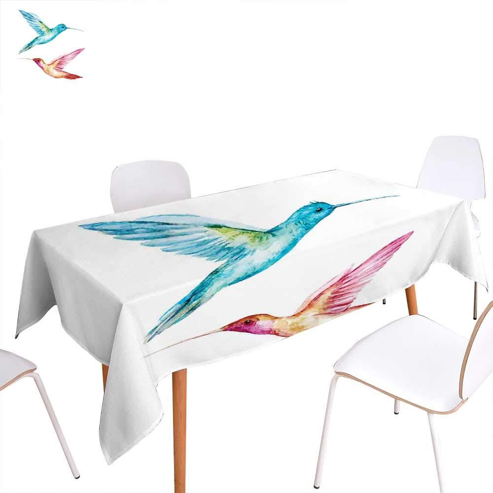 familytaste 水彩画 ダイニングテーブルトップデコレーション バタフライ シルエット 自然 抽象 装飾夏 季節 イラスト テーブルカバー キッチン マゼンタ シーグリーン W50