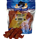 KONA'S CHIPS Chicken Thins; Chicken Jerky Dog Treats Made in USA ONLY – 100% USDA Chicken, Breakable, Moist, All Natural, Healthy & Safe Treats for Your Dog (16 oz)