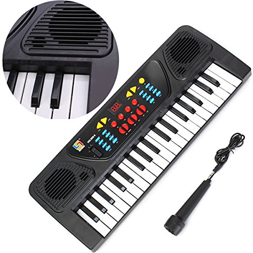 37 Keys Electronic Keyboard Piano Musical Toy Gift w/Mic Records Access-Toys03